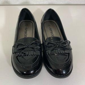 Sprox shoes kids girls Size 29 black EUC